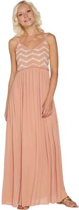 Du Jour Regular Sleeveless Crochet Bodice Maxi Dress