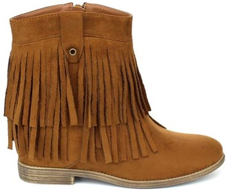 Tan Akira Fringe Ankle Boot $49.99 thestylecure.com