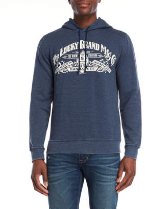Lucky Brand Navy Burnout Graphic Hoodie