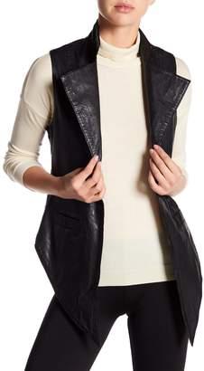 Maac London Asymmetrical Genuine Leather Vest