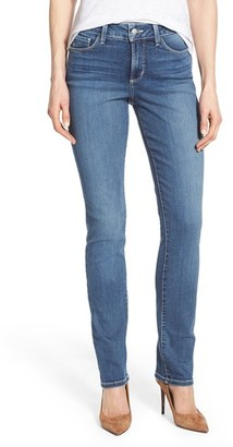 Women's Nydj 'Samantha' Stretch Slim Straight Leg Jeans $124 thestylecure.com