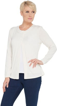 Denim & Co. Essentials Heavenly Jersey Cardigan with Pockets