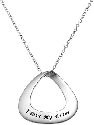 """Sterling Silver """"I Love My Sister"""" Pendant Necklace"""