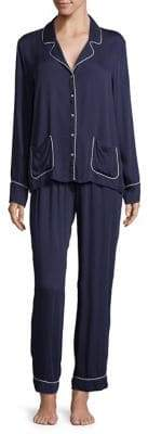Splendid Notch Long Sleeve Pajamas