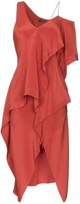 Kitx Diversity Spiral draped silk dress