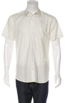 Louis Vuitton Striped Logo Short Sleeve Shirt