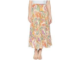 Chaps Tiered Cotton Maxi Skirt Women's Skirt