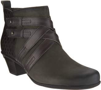Earth Leather Multi-Strap Ankle Boots - Emerald