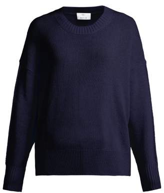 Allude Curved Hem Knitted Cashmere Sweater - Womens - Navy