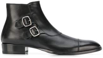 Saint Laurent leather monk boots