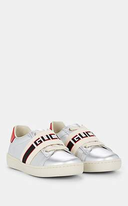ce90a0bb33a Gucci Kids  New Ace Leather Sneakers - Silver