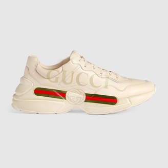 Gucci Rhyton logo leather sneaker