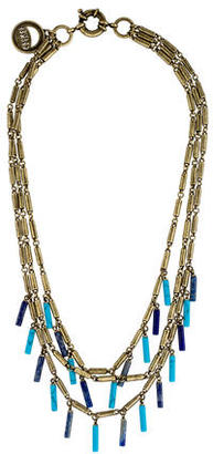 Giles & Brother Lapis & Turquoise Fringe Multistrand Necklace $125 thestylecure.com