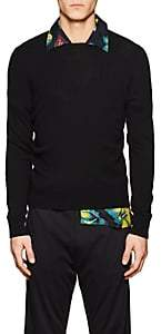 Prada Men's Stockinette-Stitched Cashmere Sweater - Black
