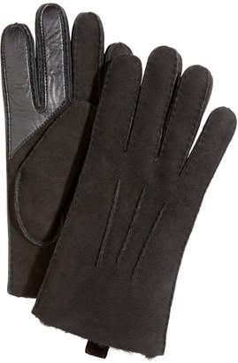 UGG Men's Water-Resistant Leather Gloves