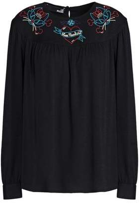 Love Moschino Embroudered Crepe Top