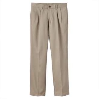 Chaps Boys 8-20 School Uniform Pleated Twill Pants