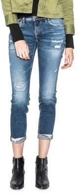Silver Jeans Sam Mid-Rise Distressed Boyfriend Jeans