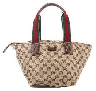f9ace08538a9 Pre-Owned at TheRealReal · Gucci Small GG Canvas Web Tote