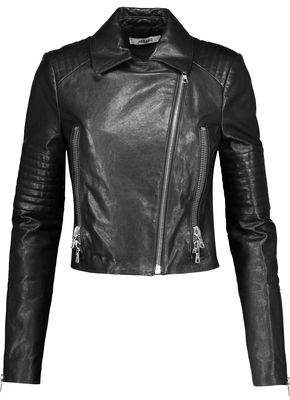 J Brand Aiah Quilted Leather Biker Jacket