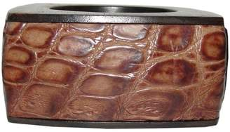 Burberry Wood & Leather Bracelet