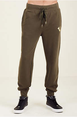 True Religion METALLIC DOUBLE PUFF CUFFED MENS SWEATPANT