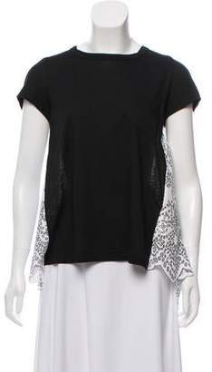 Sacai Cutout Short Sleeve Top