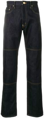 Junya Watanabe stitch detailed straight leg jeans