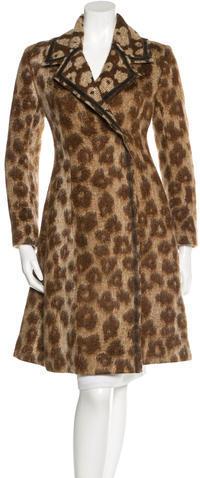 CelineCéline Virgin Wool & Mohair-Blend Jacquard Coat