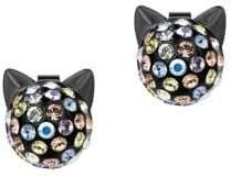 Karl Lagerfeld Choupette Crystal Multicolored Stud Earrings
