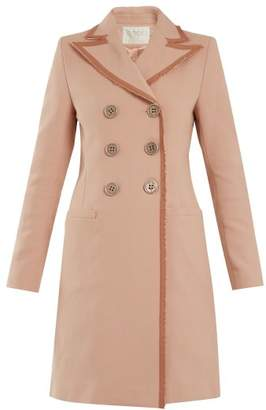 Goat Double Breasted Frayed Edge Cotton Coat - Womens - Pink