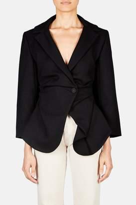 Jacquemus La Veste Saad Peplum Detail Blazer - Black