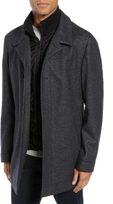 HUGO Barelto Wool Blend Coat with Bib Insert