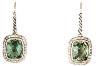 David Yurman Prasiolite & Diamond Noblesse Drop Earrings
