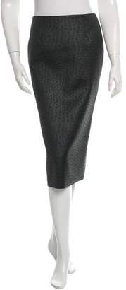 Cédric Charlier Satin Pencil Skirt w/ Tags
