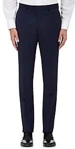 Barneys New York Men's Herringbone Wool Classic Trousers-Navy