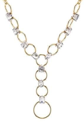"""Aqua Crystal Loop Lariat Necklace, 16"""" - 100% Exclusive"""