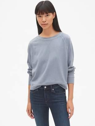 Gap Crop Raglan Sleeve Pullover Sweatshirt