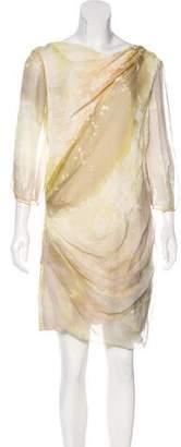 J. Mendel Printed Silk Mini Dress
