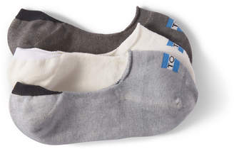 Toms 3 Pack Solid Greys Womens No Show Socks