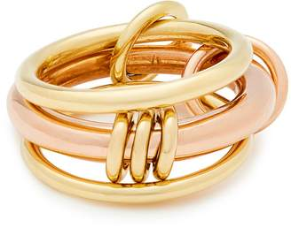 Rosegold SPINELLI KILCOLLIN Gemini 18kt gold and rose-gold ring