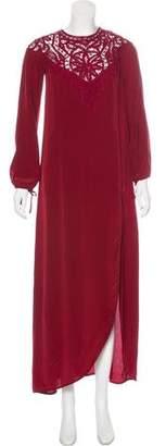 For Love & Lemons Silk Long Sleeve Dress