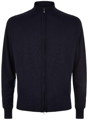 John Smedley Easy Fit Merino Wool Zip-Through Sweater