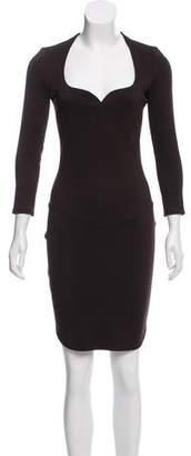 Thierry Mugler Long Sleeve Bodycon Dress