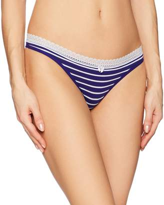 Betsey Johnson Women's Cotton Spandex Thong Panty