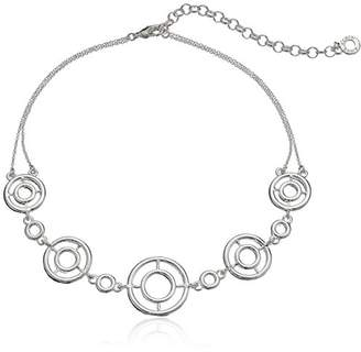 Anne Klein Silver-Tone Crystal Choker Necklace