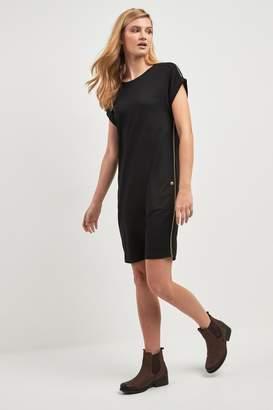 Barbour Womens International Metallic Stripe Bankso Dress - Black