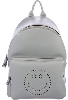 Anya Hindmarch Leather Smiley Backpack