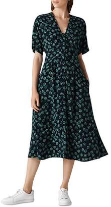 Whistles Naya Lenno-Print Dress