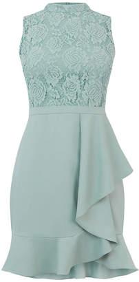 Oasis Lace Top Flounce Dress